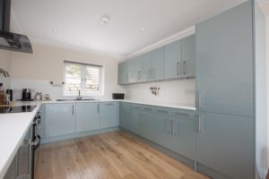 Aspen Metallic Blue Kitchen 1