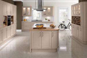 Helford Sand Beige Main Kitchen