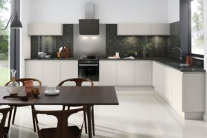 Rimini Matt Light Grey Main Kitchen