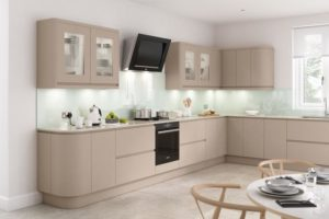 Rimini Matt Sand Beige Main Kitchen
