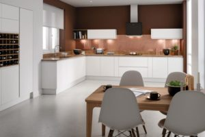 Rimini Matt White Main Kitchen
