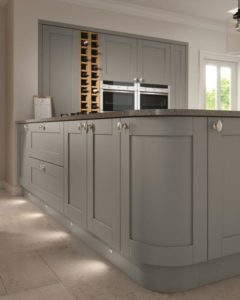 Sherbourne Dust Grey Curved Unit