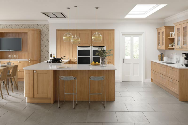 sherbourne natural oak main kitchen